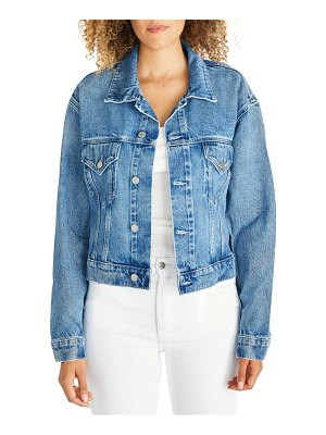 aTICA etica chelsey crop denim trucker jacket