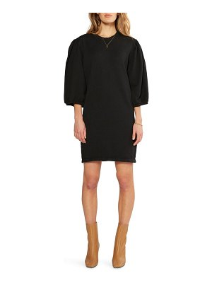 ETICA isabelle puff sleeve cotton french terry shift dress