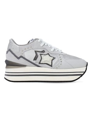 ATLANTIC STARS Andromeda double suede & nylon sneakers
