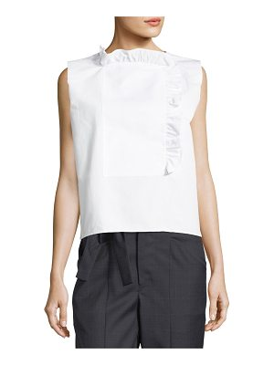 Atlantique Ascoli Chantilly Sleeveless Poplin Blouse