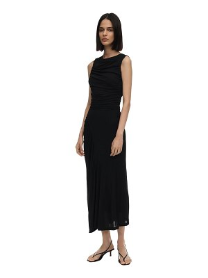 Atlein Draped crepe jersey midi dress