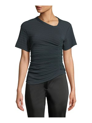 Atlein Oval-Neck Short-Sleeve Asymmetric-Ruched Jersey Top