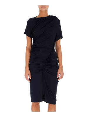 Atlein Ruched Jersey Short-Sleeve Dress