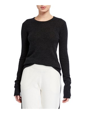 ATM Anthony Thomas Melillo Cashmere Long-Sleeve Crewneck Top