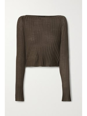 ATM Anthony Thomas Melillo cropped ribbed wool sweater