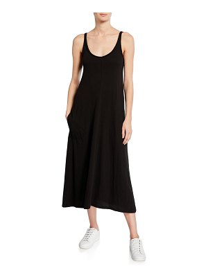 ATM Anthony Thomas Melillo High Torsion Scoop-Neck Tank Dress