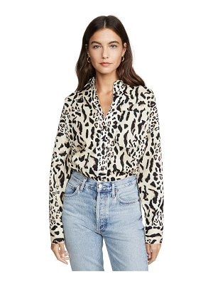 ATM Anthony Thomas Melillo leopard print boyfriend shirt