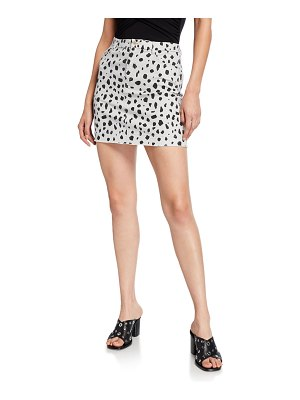 ATM Anthony Thomas Melillo Leopard-Print Mini Skirt