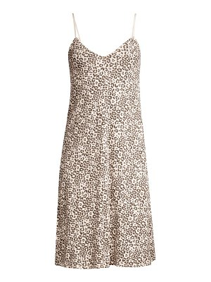 ATM Anthony Thomas Melillo lunar leopard cotton slip dress