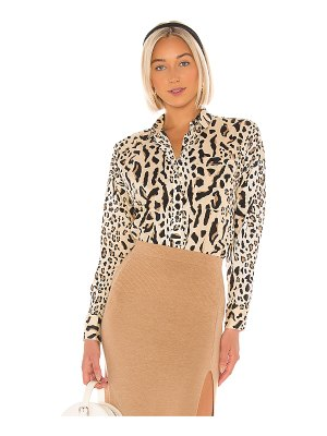 ATM Anthony Thomas Melillo mixed leopard print bf shirt