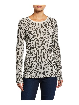 ATM Anthony Thomas Melillo Mixed Leopard-Print Long-Sleeve Shirt