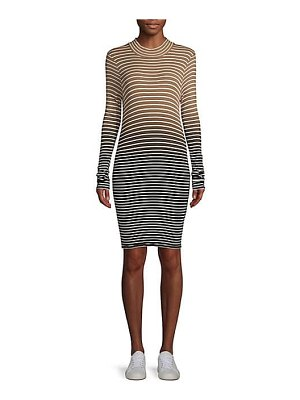 ATM Anthony Thomas Melillo ombre striped tee dress