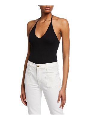 ATM Anthony Thomas Melillo Ribbed Halter Bodysuit