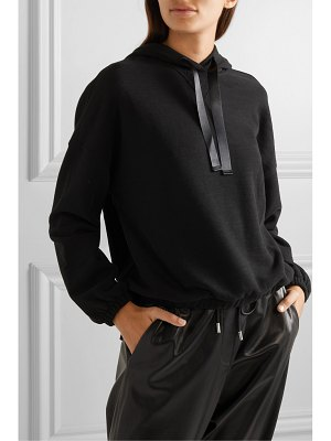 ATM Anthony Thomas Melillo satin-trimmed cotton-blend jersey hoodie