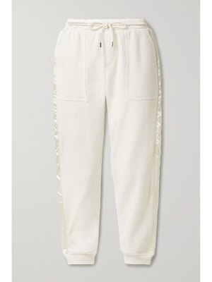 ATM Anthony Thomas Melillo satin-trimmed french cotton-terry track pants