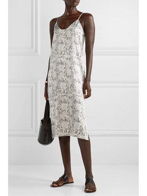 ATM Anthony Thomas Melillo snake-print silk-satin midi dress