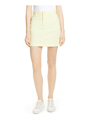 ATM Anthony Thomas Melillo stretch cotton miniskirt