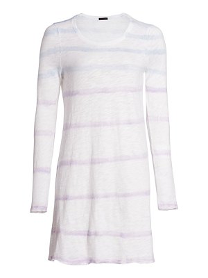 ATM Anthony Thomas Melillo tie-dye striped shirt dress