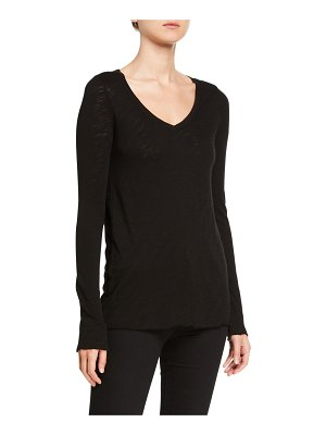 ATM Anthony Thomas Melillo V-Neck Long-Sleeve Slub T-Shirt
