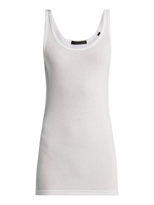 ATM Atm - Scoop Neck Ribbed Tank Top