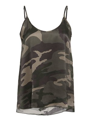 ATM camouflage silk camisole