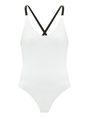 ATM crossover-back rib-knitted jersey bodysuit