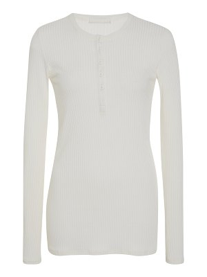 ATM ribbed stretch-micro modal henley top