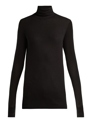 ATM Atm - Roll Neck Ribbed Jersey Top