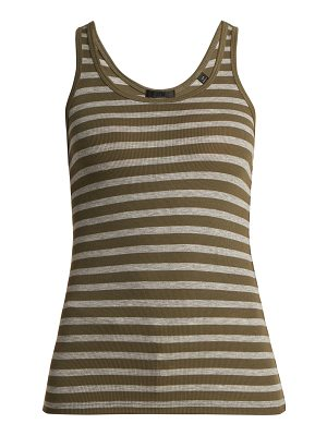 ATM Atm - Striped Ribbed Jersey Tank Top