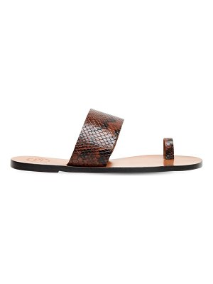 Atp Atelier 10mm snake print leather thong sandals