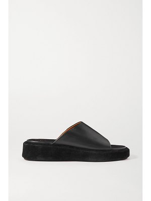 Atp Atelier pacci leather and suede platform sandals