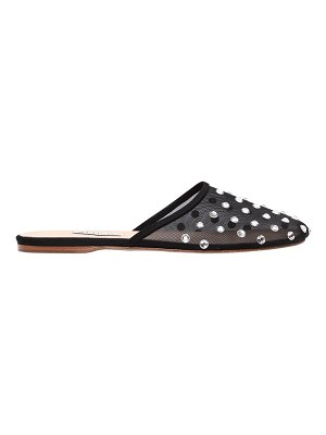 ATTICO 10mm gina embellished sheer mesh mules