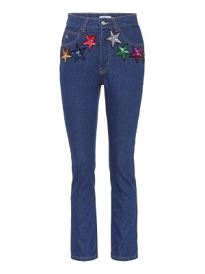 The Attico attico sequined high-waisted jeans