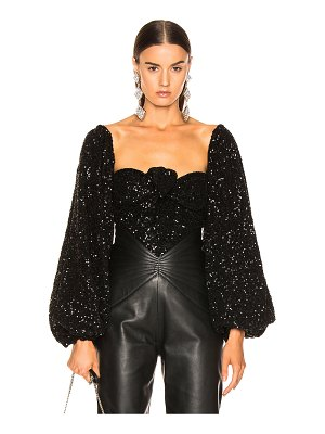 ATTICO balloon sleeve sequined blouse