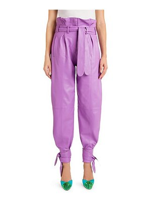 ATTICO belted leather ankle pants