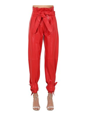 ATTICO Belted leather pants