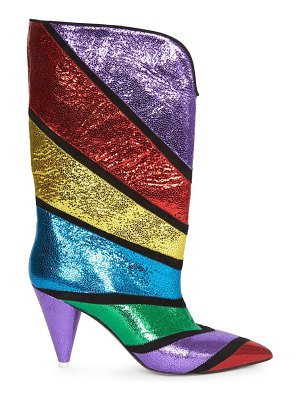 ATTICO colorblock leather mid-calf boots