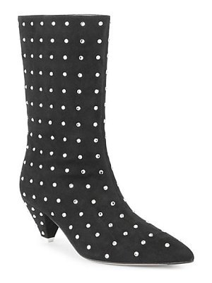 ATTICO crystal studded suede boots