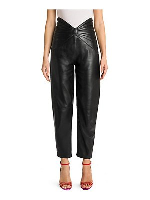 ATTICO leather butterfly cropped pants