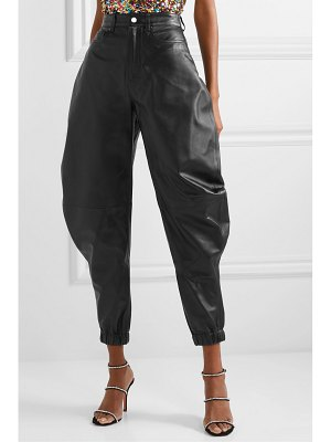 ATTICO leather tapered pants