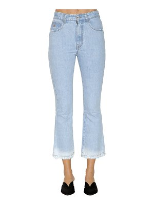 ATTICO Mid rise washed cropped denim jeans