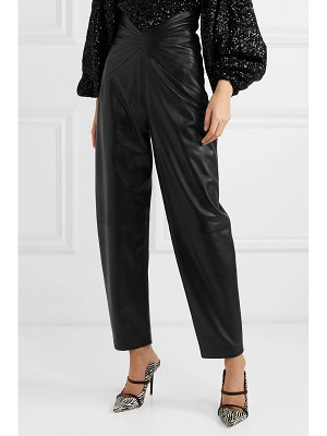 ATTICO ruched leather tapered pants