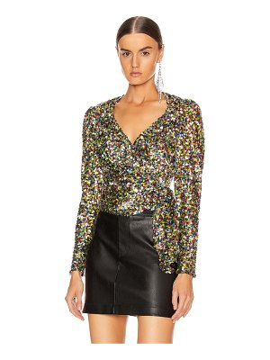 ATTICO sequin wrap top