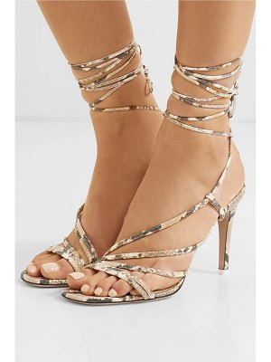 ATTICO snake-effect leather sandals