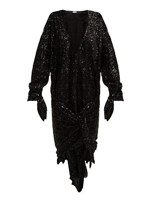 The Attico tie-front sequined dress