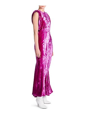 ATTICO velvet gathered-sleeve gown