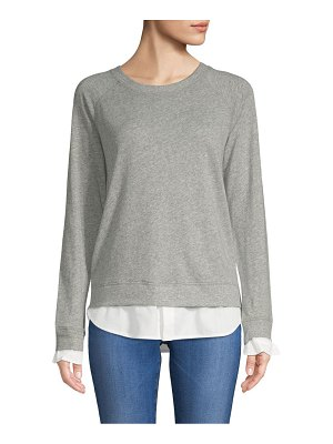 Atwell Laura Long-Sleeve Cotton Sweatshirt