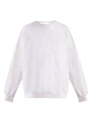 AUDREY LOUISE REYNOLDS Round Neck Cotton Jersey Sweatshirt