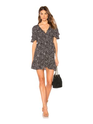 AUGUSTE Edie Cascade Wrap Mini Dress