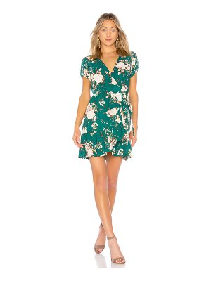 AUGUSTE Frill Wrap Mini Dress